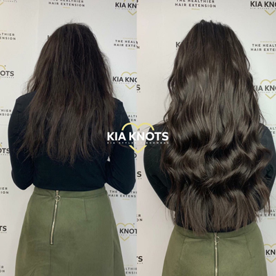 Before & After Hair Extensions Picture
