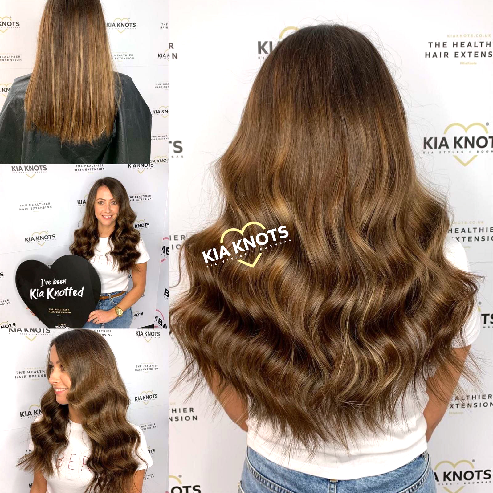 Healthy Hair Extensions on Brown hair