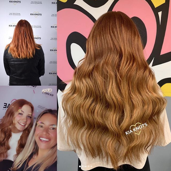 Healthy Hair extensions on Ginger Hair