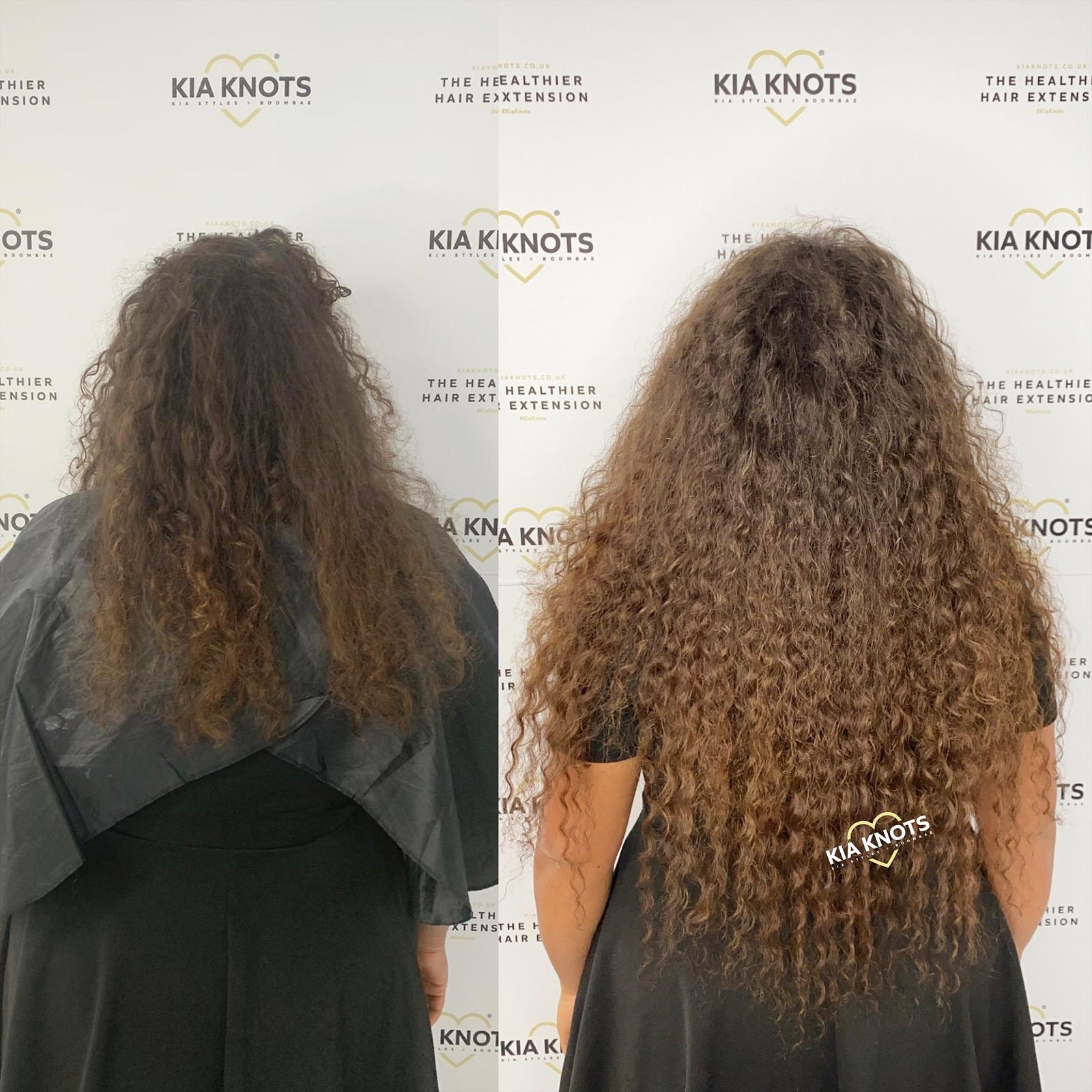 Healthy Hair Extensions on Curly Hair